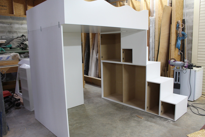 création d'un lit mezzanine enfant