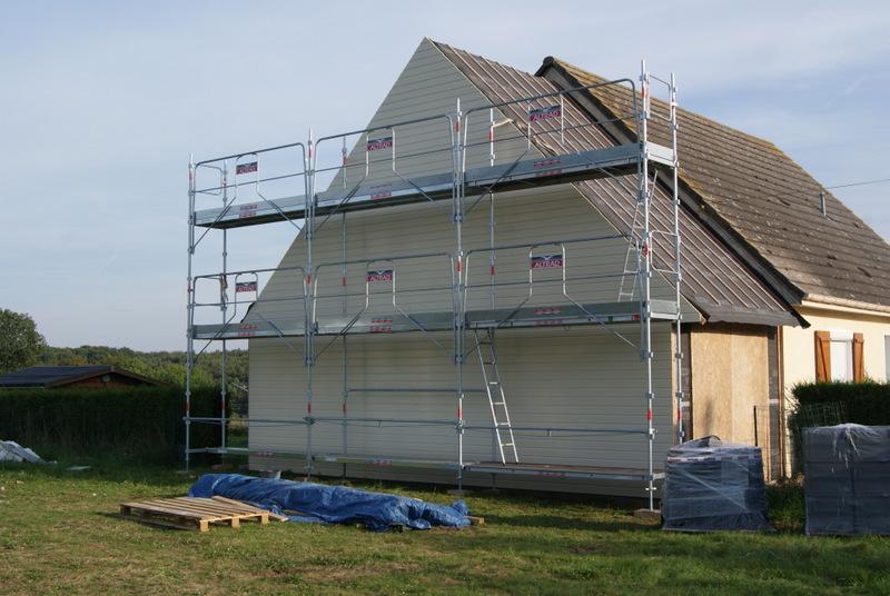 agrandissement d'un garage en ossature bois avec comble aménager
