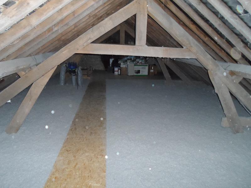 isolation de comble en laine de bois + étanchéité a l'air et placo