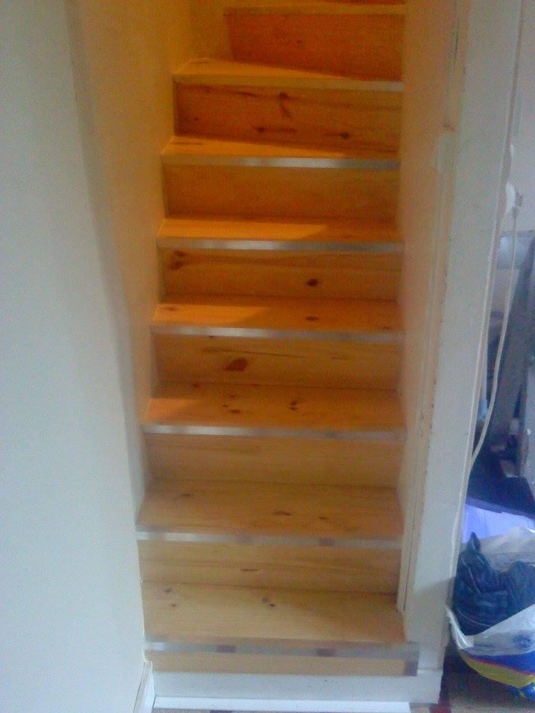 après - la restauration d'un escalier