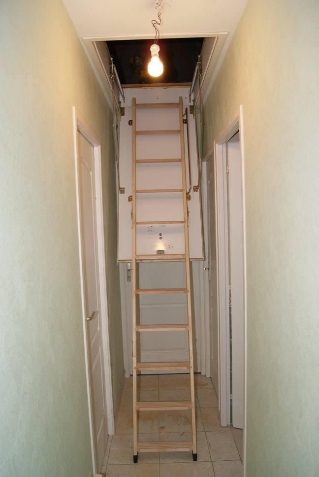 Pose et fourniture d'un escalier escamotable