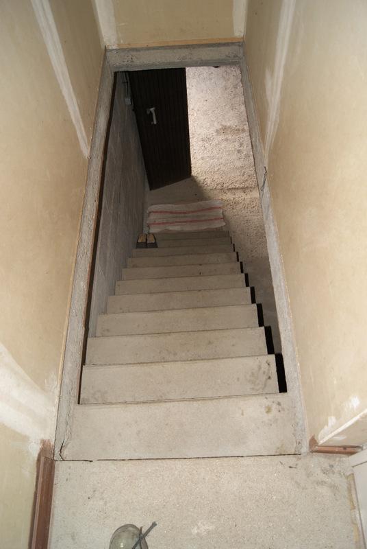avant - Fabrication d'une rampe d'escalier