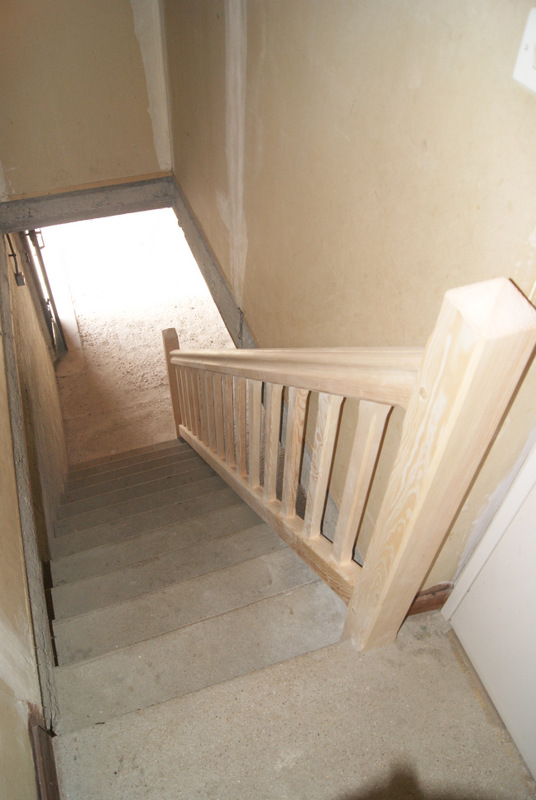après - Fabrication d'une rampe d'escalier