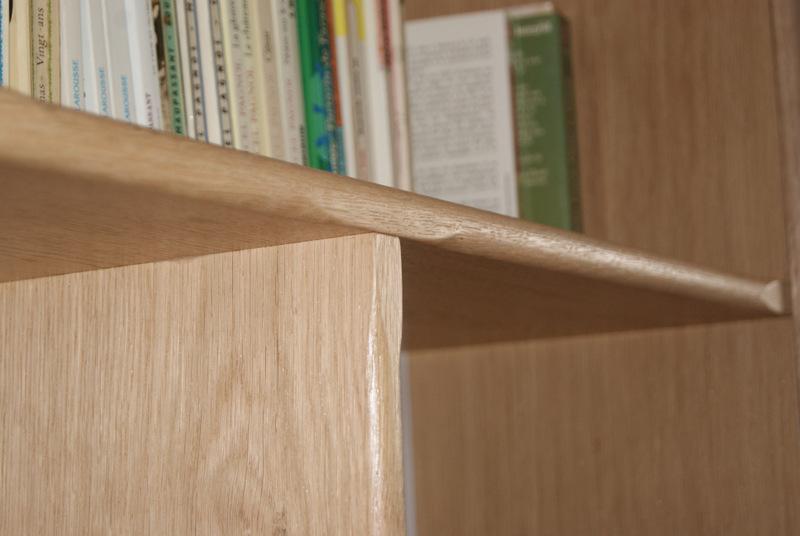 Création d'une bibliothèque en chêne